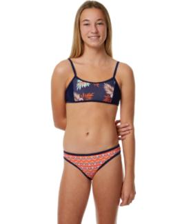 New Original and Branded JETS Kids Girls Lily Crop Bikini - AUST/