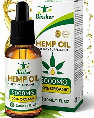 High-Strength-Hemp-Oil-5000MG, 100% Pure-Natural, Pain-Stress-Anxiety-Relief