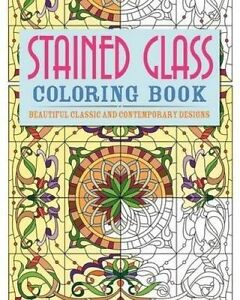 Stained-Glass-Colouring-Book-Beautiful-Classic-and-Contemporary-Designs