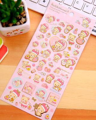 ~ *New San-x Rilakkuma Bear Sticker Sheet C Japan Cute Japan*~ US SHIP