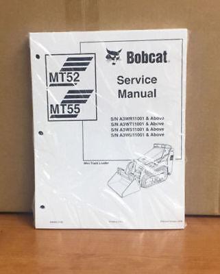 Bobcat Mt52 Mt55 Mini Track Loader Service Manual Shop Repair Book 6986859