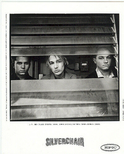Silverchair press kit, COOL official 8x10 photo! 1999, record company portrait