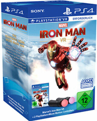 VR Iron Man - PS4 / PlayStation 4 - Move Controller Twin Pack Bundle - NEU & OVP