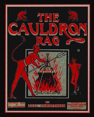 Halloween Vintage Music (THE CAULDRON RAG gothic red devil 8x10 vintage Halloween sheet music Art)