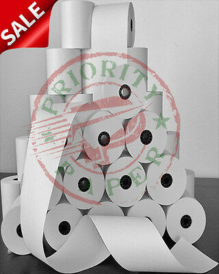 3 X 165 Brite White Bond Pos Receipt Paper - 100 Rolls Free Shipping