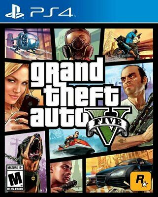 Grand Theft Auto V Premium Edition GTA 5 PS4 Factory Sealed Brand New