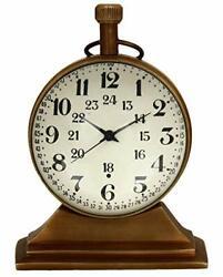 Antique Brass Clock Nautical Antique Marine Vintage Desk Clock