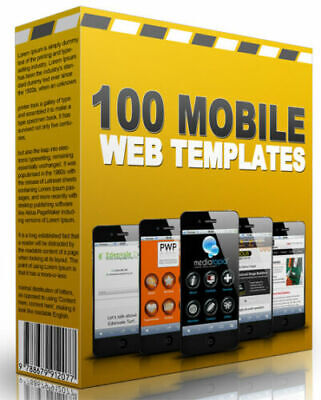 100 Mobile Tablet Friendly Turnkey Websites Templates