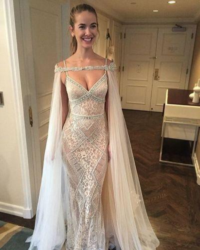 Charming Sheer Tulle Beading Long Wedding Cape Bridal Jacket Women Wrap Shawls