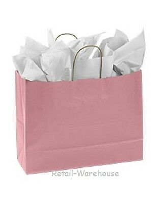 Paper Shopping Bags 100 Light Pink Retail Merchandise 16 X 6 X 12 Vogue