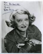 Bette Davis Autograph