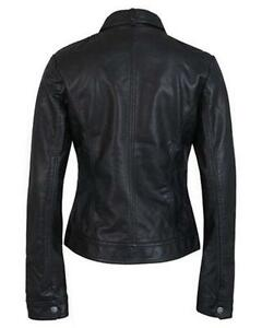 Men Genuine Black Leather Motorcycle Jacket Size 6 Xl Jade White Motorcycle Street Gear