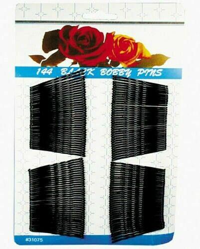 Haarklemmen - 72 Stück - Haarklammern - Haarnadeln - schwarz gewellt - 5 cm