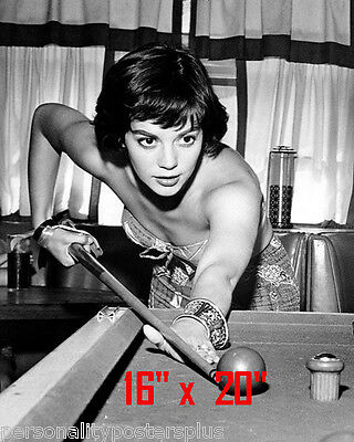 "Natalie Wood~Shooting Pool~Playing Pool~Billiards~16"" x 20""~Poster~ Photo"