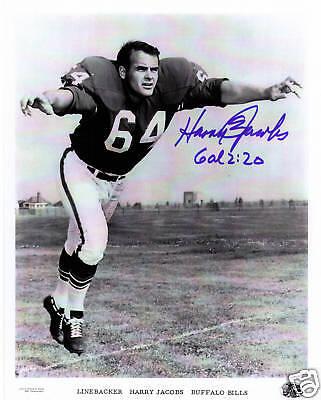- Harry Jacobs signed photo picture Buffalo Bills AFL coa 1963 1964 1965 1967 1969