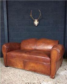 Vintage leather sofa - NEED GONE