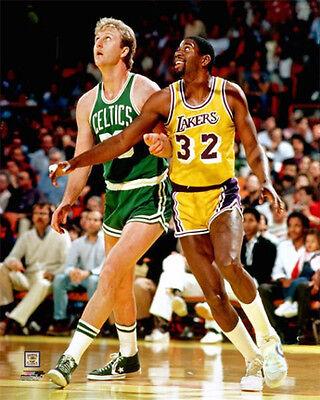 Larry BIRD VS. MAGIC Johnson Boston Celtics vs. LA Lakers 1980s Poster Print