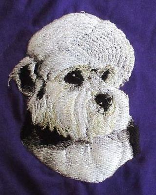 Embroidered Ladies Short-Sleeved T-Shirt - Dandie Dinmont Terrier BT3513