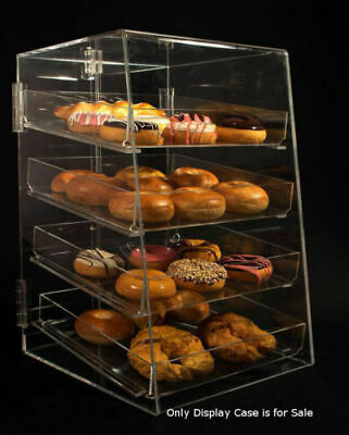 """4 Tier Acrylic Donut Pastry Display Case with Removable Trays, Size: 12""""W x"""