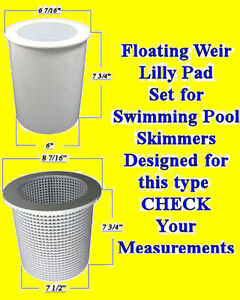 Swimming Pool Replacement Skimmer Weir Float Basket Lilly Pad Float Skim Leaf