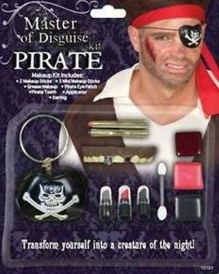 Pirate Deluxe Make Up Disguise Kit Halloween Face Paint Set Fancy Dress P7282