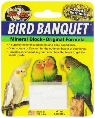 Zoo Med Mineral Block Original Formula Banquet Bird Food 1-Ounce