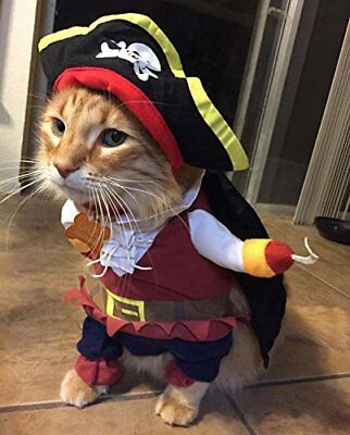 Cool Dog Costumes Halloween (TOPSUNG Cool Caribbean Pirate Pet Halloween  Small to Medium Dogs Cats, Size)