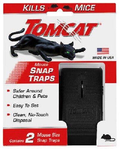 2 Piece Mouse Traps Mice Killer Tomcat Rat Snap Trap Reusable Pesticide-Free NEW Animal & Rodent Control