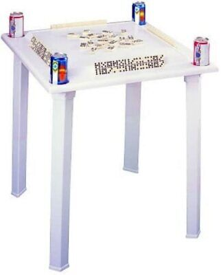 Domino & Game Table with Tile Racks & Drink Holder