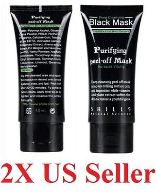 2x packs 50 ml deep Cleansing Black MASK peel-off Facial Clean Blackhead