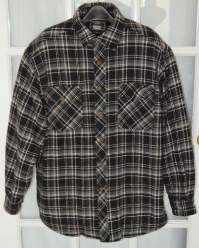 Mens Flannel Quilted Shirt Ebay