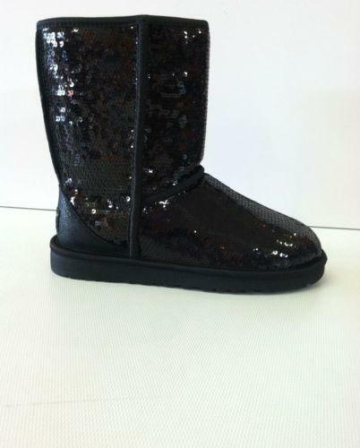black sparkle uggs boots ebay
