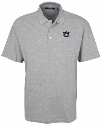 Oxford NCAA Auburn Tigers Men's Classic Pique Polo Shirt, Heather Grey, -