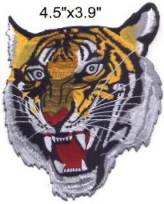 "Tiger Head (M) Embroidered Patch 4.5""x3.9"" on Rummage"