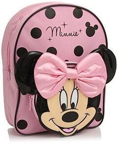 036200154b Disney Minnie Mouse 3d Backpack Rucksack School Bag Cute Design for ...