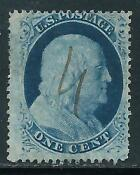 Franklin Stamp 1 Cent