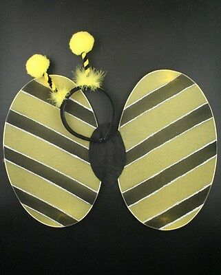 NEW Bumble bee wings deeley bopper yellow black adult large child fancy - Adult Bee Wings