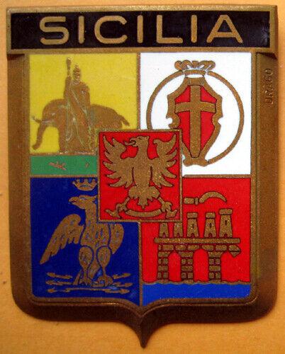 Badge auto car drago 1950s original Sicilia Sicilian Italia Italy