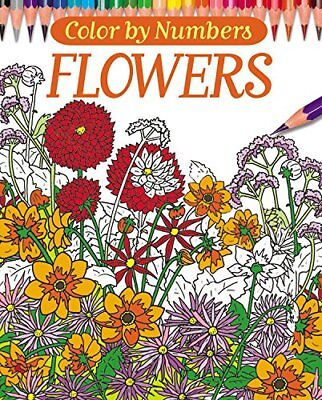 NEW - Color By Numbers - Flowers (Chartwell Coloring -
