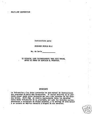 Spanish - Instruction Manual For Avo Multi-amp Ms-2