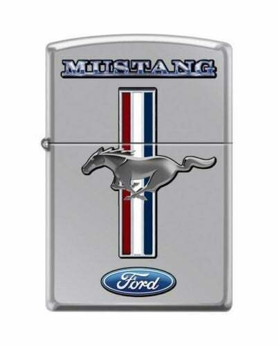 High Polished Chrome Ford Mustang Pony Zippo Lighter