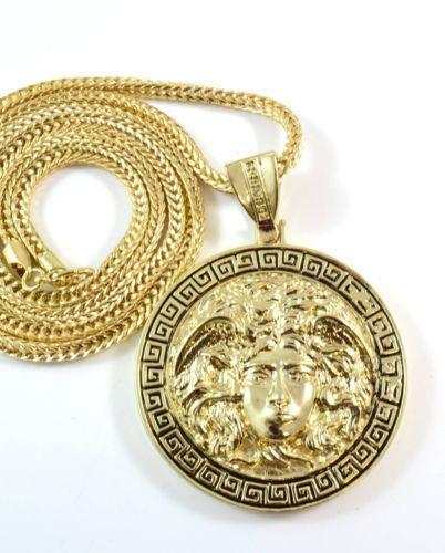 Gold Medallion Pendant | eBay