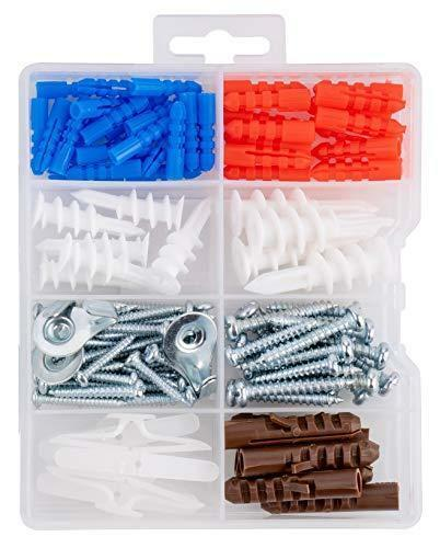 Qualihome Drywall and Hollow-Wall Anchor Assortment Kit, Anchors, Screws, Wall
