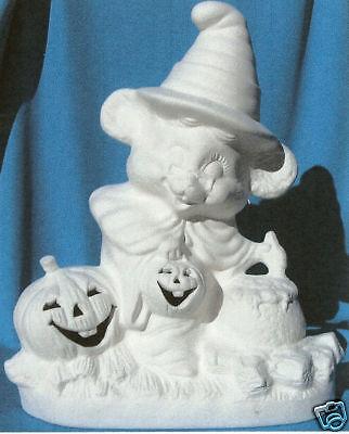 MOUSE WITCH & CAULDRON      CERAMIC BISQUE U-PAINT HALLOWEEN - Paint Halloween Crafts