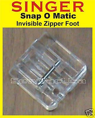 SINGER Invisible Concealed Zipper Foot Fits Futura Quartet XL-400 FQ4 SEQS-6000
