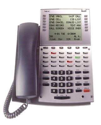 Nec 34b Super Display 0890049 Ip1na-24tsxh Tel Bk Aspire Phone -1 Year Warranty-