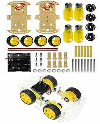 4wd 2 Layer Smart Robot Car Chassis Kit With Speed Encoder Battery Box For
