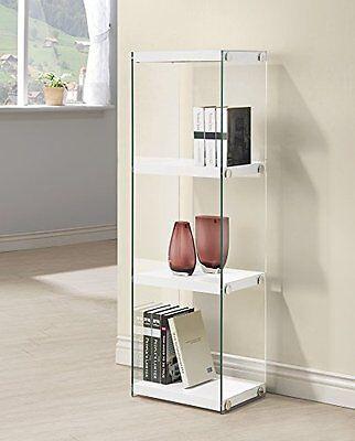 $116.00 - Coaster 801258 Home Furnishings Bookcase, Glossy White
