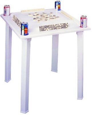 BC Classics Plastic Domino & Game Table with Tile Racks & Drink Holder