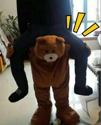 Carry Me Teddy Bear Mascot Costume Ride On Piggy Back Pants Adults Fancy Dress - Adult Teddy Bear Costume